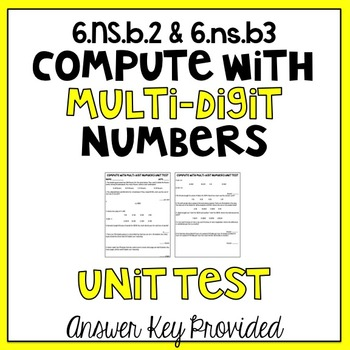 6th Grade Multi-Digit Number Computation Assessment