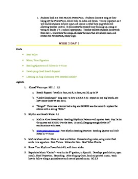 6th Grade Music Curriculum and Lesson Plans Based on Common Core Standards