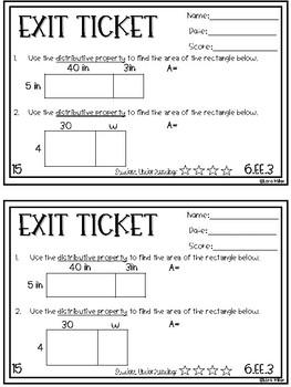 6th Grade NO PREP Exit Tickets--ALL EE Standards