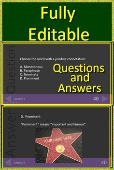 6th Grade NWEA MAP Reading Test Prep Vocabulary Practice Review Game