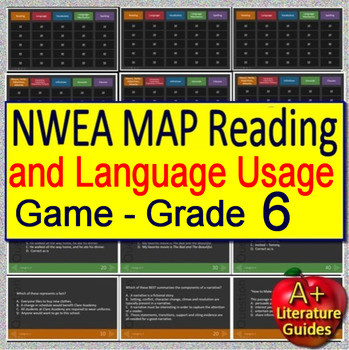 6th Grade NWEA MAP Test Prep Reading and Language Usage Skills Game #1