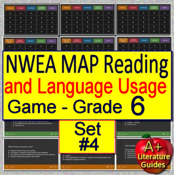 6th Grade NWEA MAP Test Prep Reading and Language Usage Skills Game #4