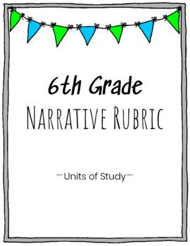 6th Grade Narrative Writing Rubric