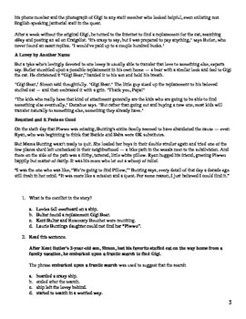 6th Grade Non-fiction Reading Comprehension Review