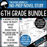 6th Grade Novel Study Bundle - Print AND Digital