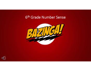 6th Grade Number Sense Bazinga Review Game
