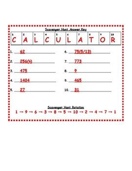 6th Grade Number System Scavenger Hunt Bundle