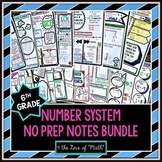 6th Grade Number System No Prep Notes Bundle
