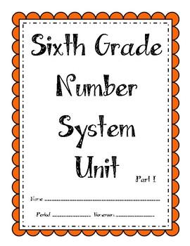 6th Grade Number System (Part I) Unit (Bundle)