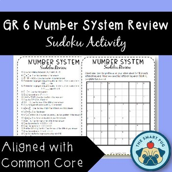 6th Grade Number System Review - Sudoku Challenge