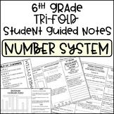 6th Grade Number System Tri-Fold Notes Bundle