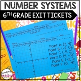 6th Grade Number Systems Exit Tickets