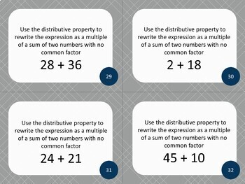 6th Grade Numbers System Multiplication and Division Math Task Cards