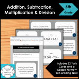 6th Grade Numbers System Multiplication and Division Math