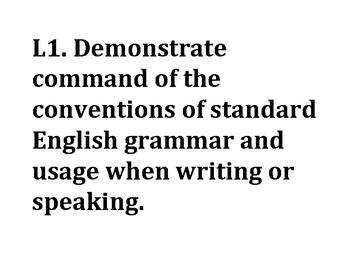 6th Grade Ohio Language Standards Posters