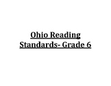 6th Grade Ohio Reading Standards Posters