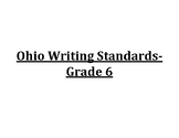 6th Grade Ohio Writing Standards Posters