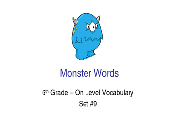6th Grade On-Level Dolch Words – Set #9 - Special Education Resource ELA