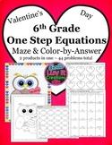 Valentine's Day Math One Step Equations Activity - Valenti