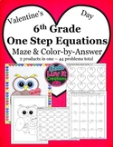 Valentine's Day Math Solving Equations One Step Equations