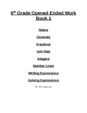 6th Grade Open Ended Work Book 1