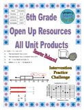 6th Grade Open Up Resources All Product Bundle - Editable - SBAC