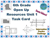 6th Grade Open Up Resources Unit 1 Task Cards - Editable - SBAC