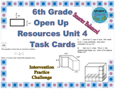 6th Grade Open Up Resources Unit 4 Task Cards - Editable - SBAC
