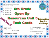 6th Grade Open Up Resources Unit 5 Task Cards - Editable - SBAC