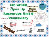 6th Grade Open Up Resources Unit 6 Vocabulary Cards - Editable - SBAC