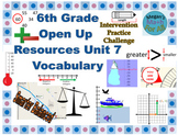 6th Grade Open Up Resources Unit 7 Vocabulary - Editable - SBAC