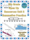 6th Grade Open Up Resources Unit 8 Math Summative Practice - Editable - SBAC