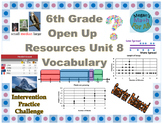 6th Grade Open Up Resources Unit 8 Vocabulary Cards - Editable - SBAC