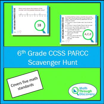6th Grade CCSS PARCC Scavenger Hunt