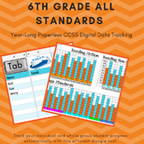 6th Grade Paperless Assessment and Data Tracker for Common
