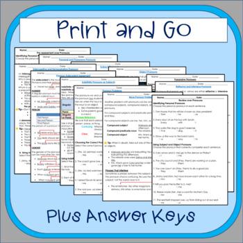 5th-6th Grades: Part 3 Pronouns--Grammar Wired!