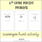6th Grade Percents Scavenger Hunt