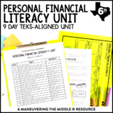 6th Grade Personal Financial Literacy: TEKS