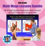 6th Grade Powerpoint Mega Math Bundle - 55 Lessons - 2736 Slides