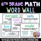 6th Grade - Pre-Algebra / Middle School Math Word Wall