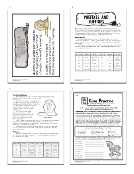 Prefixes and Suffixes Activities + COMPLETE Interactive Notebook Lesson