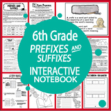 Prefixes & Suffixes Activities – Interactive Notebook 6th Grade Language Lesson