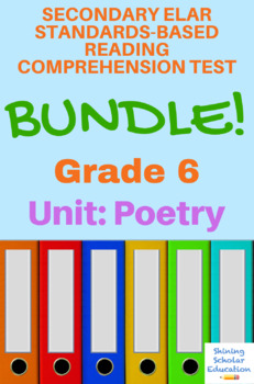 6th Grade Prentice Hall Lit. Unit 4 Poetry Reading Tests (20 total)