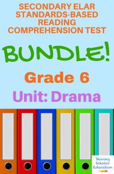 6th Grade Prentice Hall Lit. Unit 5 Drama Reading Tests (2 total)