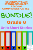 6th Grade Prentice Hall Literature Unit 2 Short Stories Reading Tests (14 total)