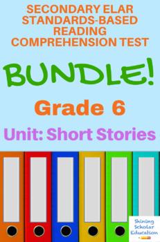 Grade 6 Prentice Hall Literature Unit 2 Short Stories Reading 14-Test Bundle