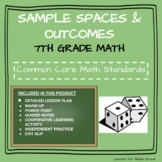 7th Grade Probability and Statistics  - Sample Spaces and Outcomes