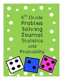 6th Grade Problem Solving Journal Statistics and Probability