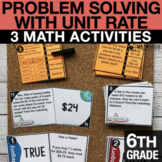 6th Grade Problem Solving with Unit Rate Activities 6th Gr
