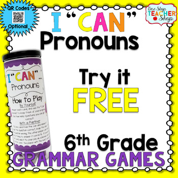 6th Grade Pronouns Game | I CAN Grammar Games